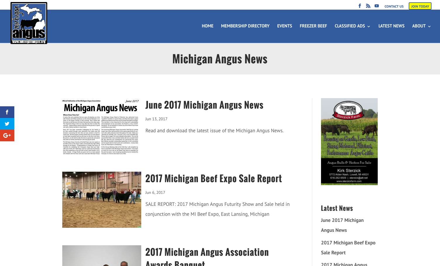 display ads on michiganangus.org