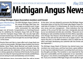 May 2018 Michigan Angus News
