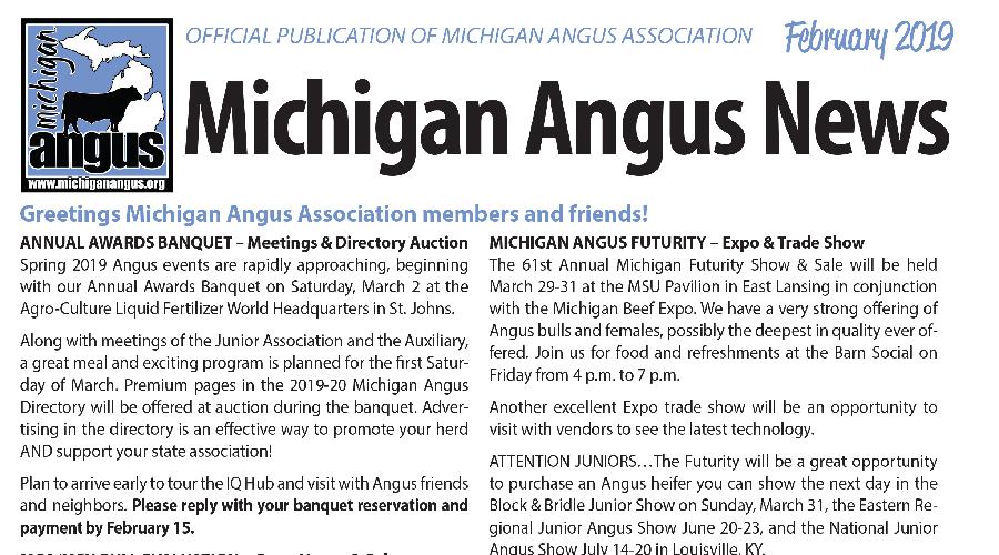 February 2019 Michigan Angus News
