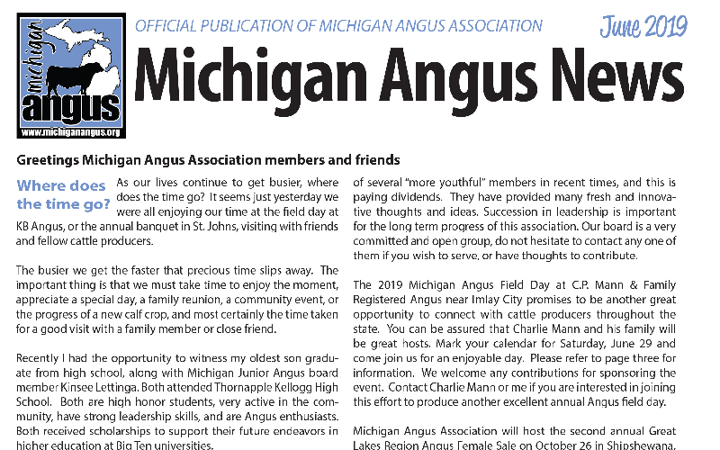 June 2019 Michigan Angus News