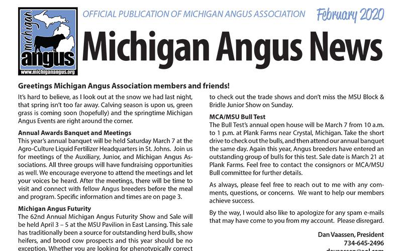 February 2020 Michigan Angus News