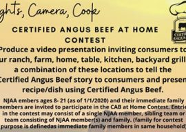 American Angus Auxiliary sponsored Certified Angus Beef® at Home Contest